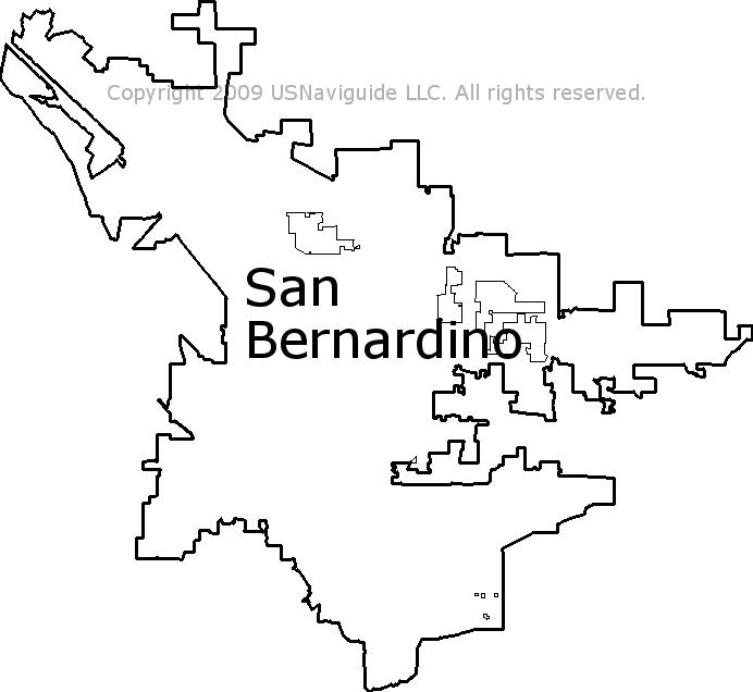 san bernardino ca zip code map San Bernardino California Zip Code Boundary Map Ca