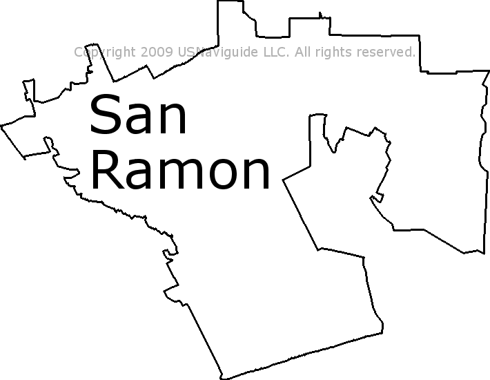 san ramon zip code map San Ramon California Zip Code Boundary Map Ca