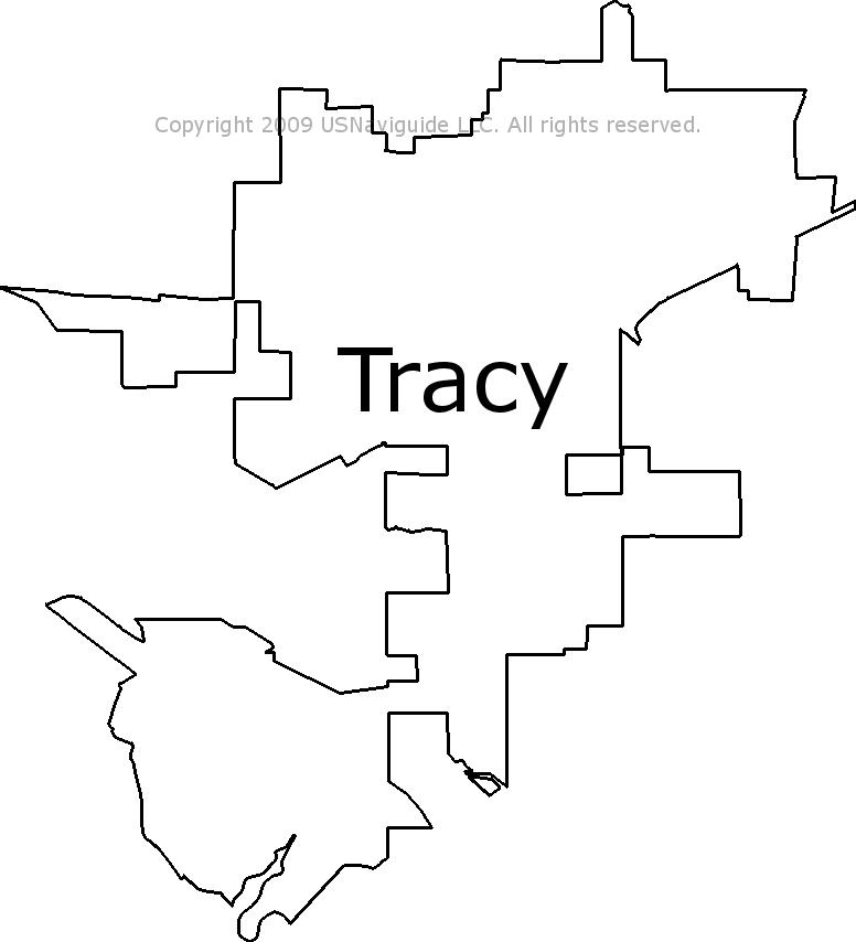 tracy ca zip code map Tracy California Zip Code Boundary Map Ca