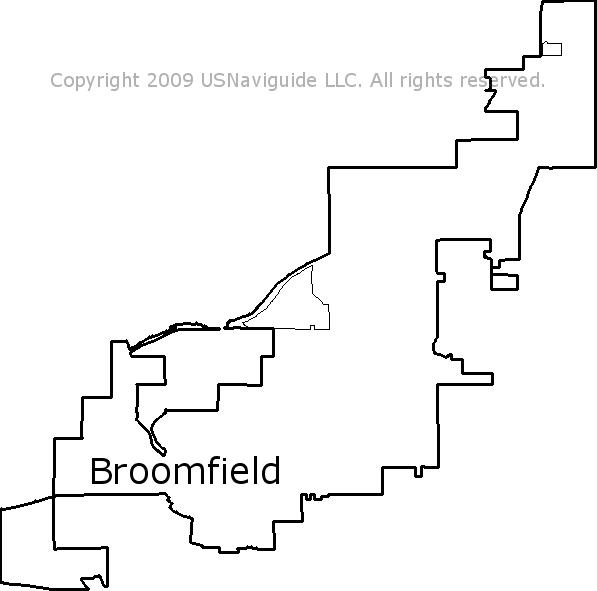 Broomfield Colorado Zip Code Map.Broomfield Colorado Zip Code Boundary Map Co