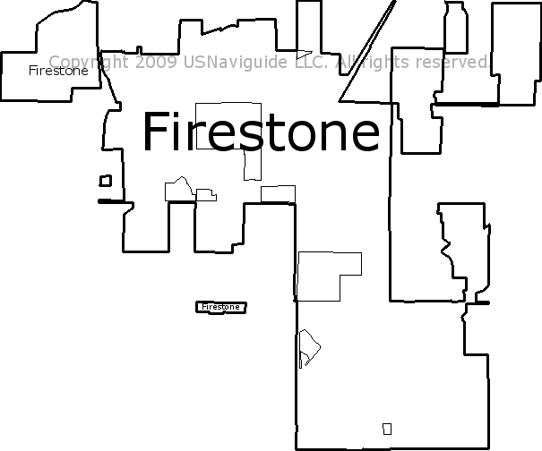 Firestone Colorado Zip Code Boundary Map Co