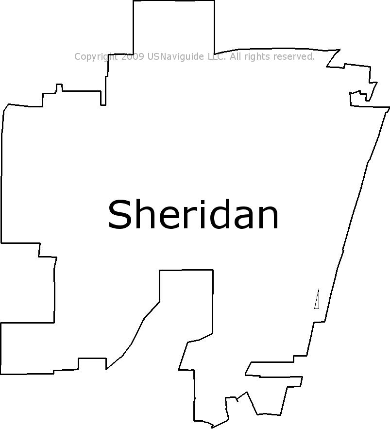 Sheridan Colorado Map.Sheridan Colorado Zip Code Boundary Map Co