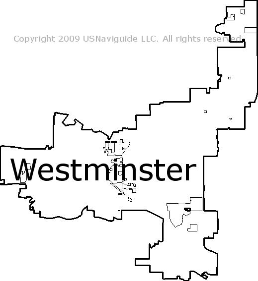 Broomfield Colorado Zip Code Map.Westminster Colorado Zip Code Boundary Map Co