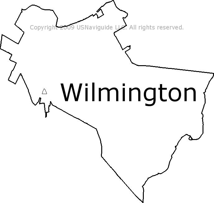 Wilmington Delaware Zip Code Boundary Map De
