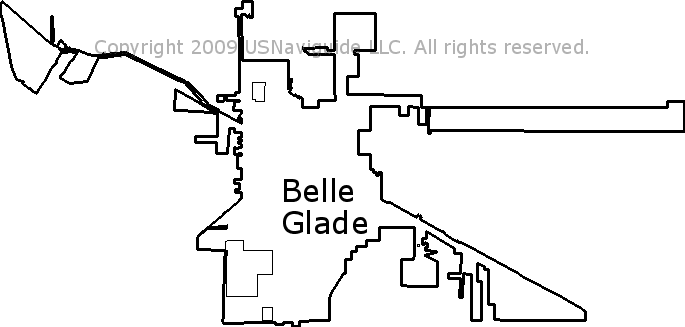 Belle Glade Florida Zip Code Boundary Map Fl
