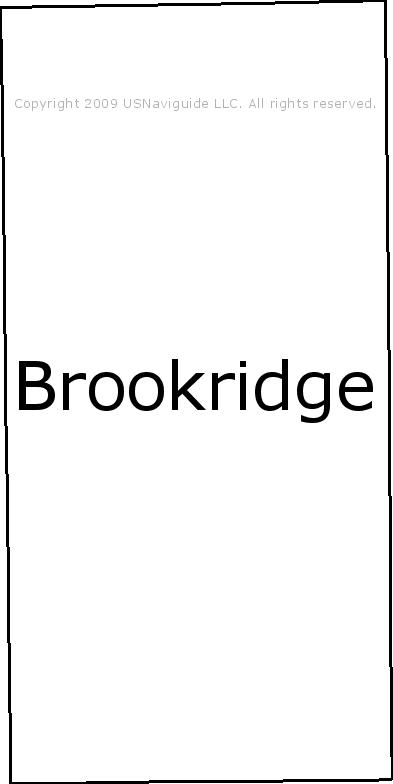 Brookridge Florida Zip Code Boundary Map Fl