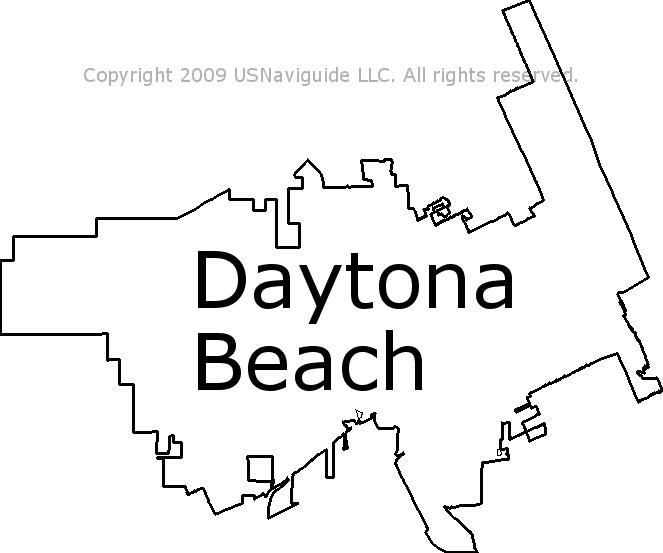 Ormond Beach Zip Code Map.Daytona Beach Florida Zip Code Boundary Map Fl