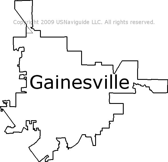 Gainesville, Florida Zip Code Boundary Map (FL)