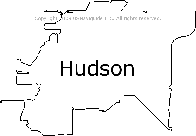 Hudson Fl Zip Code Map.Hudson Florida Zip Code Boundary Map Fl