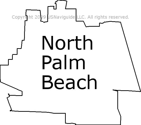 Palm Beach Gardens Zip Code Map.North Palm Beach Florida Zip Code Boundary Map Fl