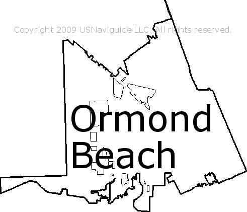 Ormond Beach Zip Code Map.Ormond Beach Florida Zip Code Boundary Map Fl