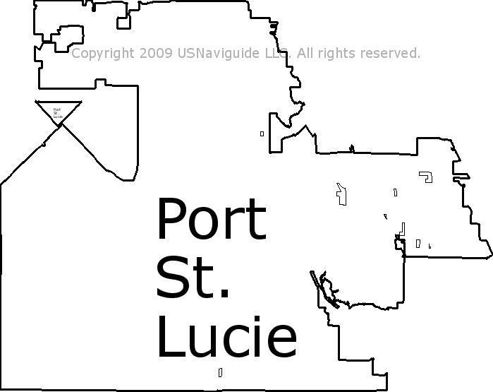 port st lucie florida zip code map