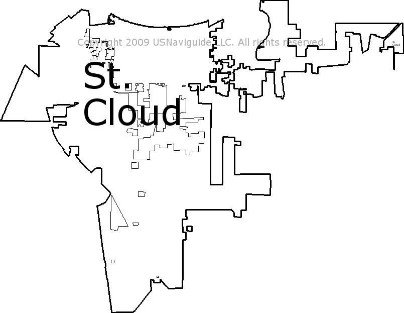 st cloud fl zip code map St Cloud Florida Zip Code Boundary Map Fl