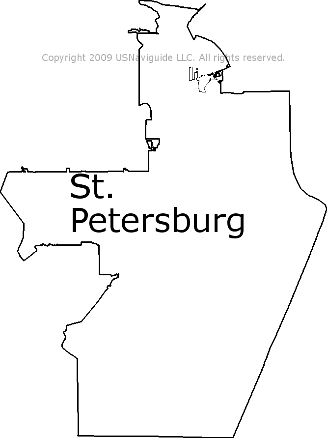 Saint Petersburg Fl Zip Code Map.St Petersburg Florida Zip Code Boundary Map Fl