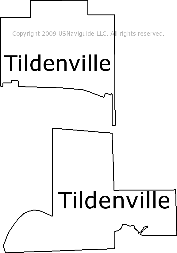 Tildenville Florida Zip Code Boundary Map Fl