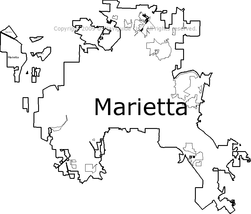 Zip Code Map Marietta Ga.Marietta Georgia Zip Code Boundary Map Ga