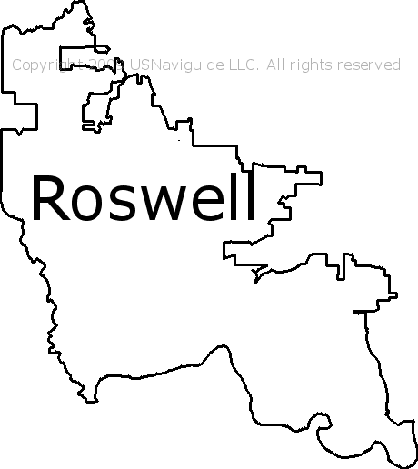 Roswell Zip Code Map.Roswell Georgia Zip Code Boundary Map Ga