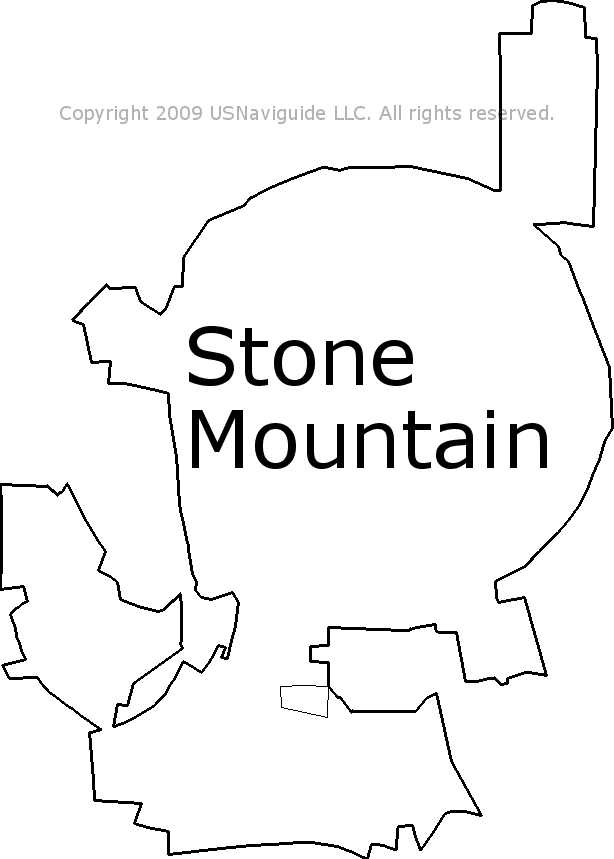 stone mountain ga zip code map Stone Mountain Georgia Zip Code Boundary Map Ga