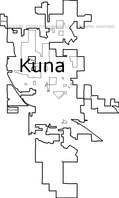Kuna Idaho Zip Code Boundary Map Id