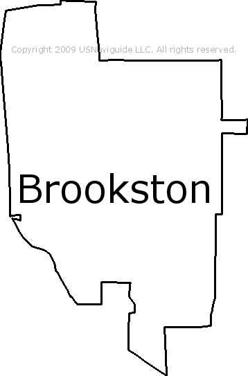 Brookston Indiana Zip Code Boundary Map In