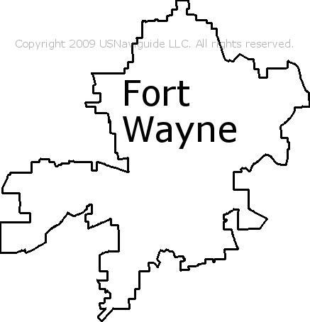 Fort Wayne Zip Code Map Printable