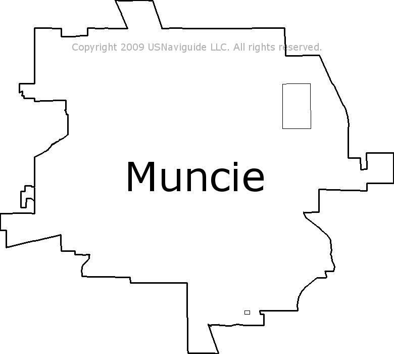 Muncie Zip Code Map.Muncie Indiana Zip Code Boundary Map In