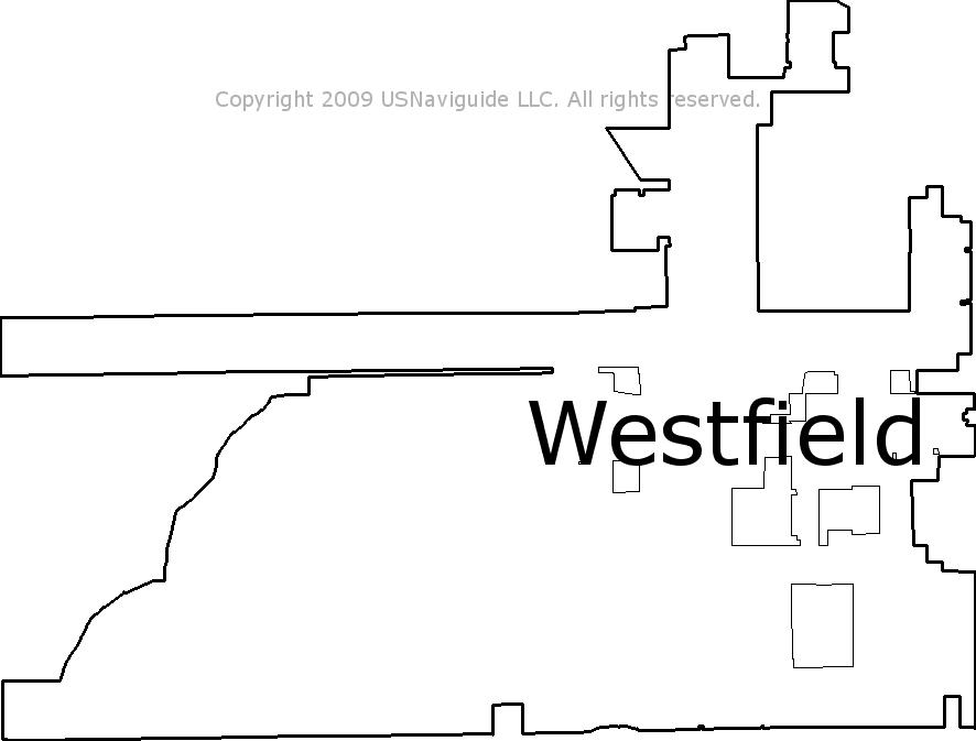 Westfield Indiana Zip Code Boundary Map In