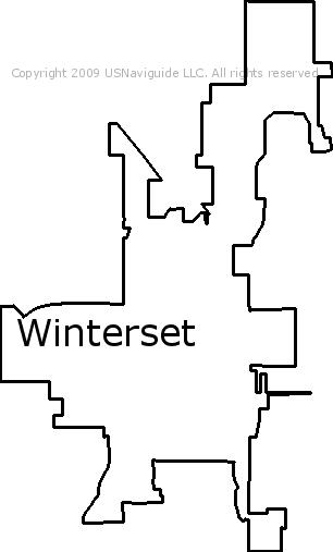 Winterset Iowa Zip Code Boundary Map Ia