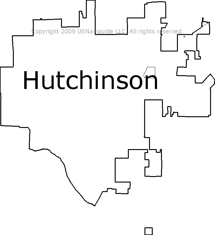 Hutchinson Ks Zip Code Map.Hutchinson Kansas Zip Code Boundary Map Ks