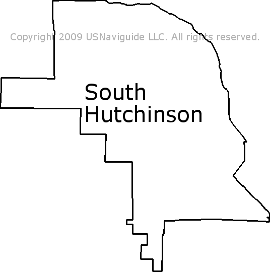 Hutchinson Ks Zip Code Map.South Hutchinson Kansas Zip Code Boundary Map Ks