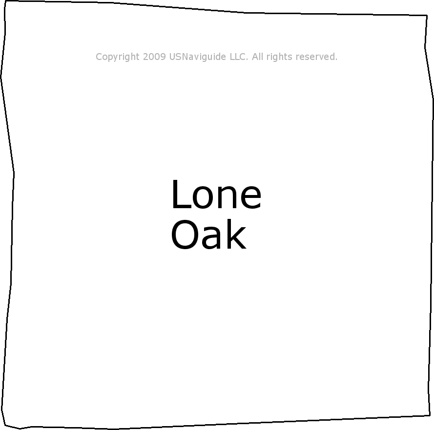 Lone Oak Kentucky Zip Code Boundary Map Ky