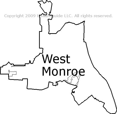 West Monroe Zip Code Map.West Monroe Louisiana Zip Code Boundary Map La