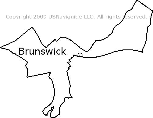 Brunswick Maine Zip Code Boundary Map Me