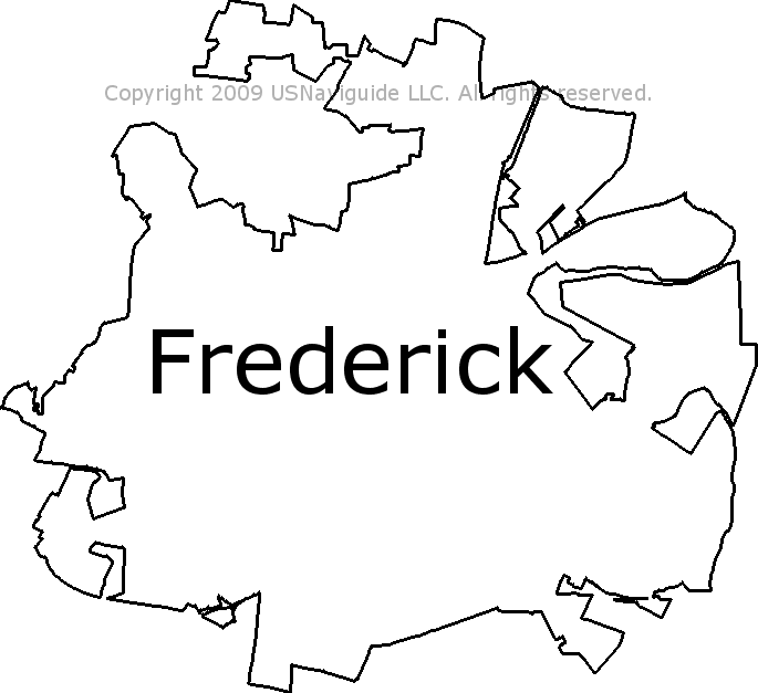 Frederick County Md Zip Code Map.Frederick Maryland Zip Code Boundary Map Md