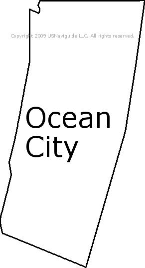 Ocean City Maryland Zip Code Boundary Map Md
