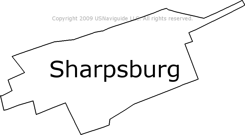 Hagerstown Md Zip Code Map.Sharpsburg Maryland Zip Code Boundary Map Md
