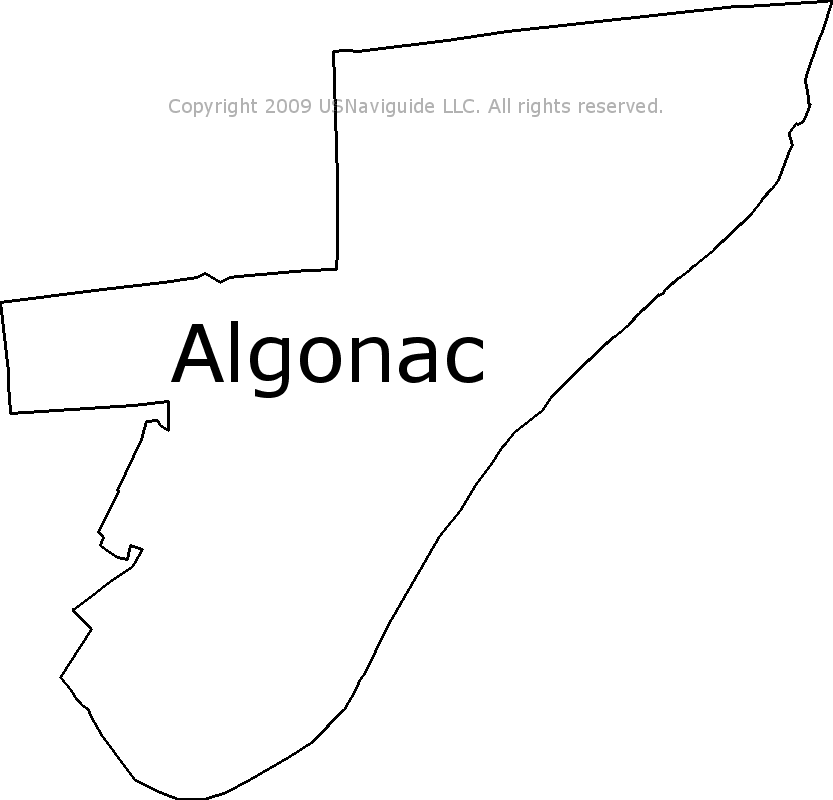 Algonac Michigan Map.Algonac Michigan Zip Code Boundary Map Mi