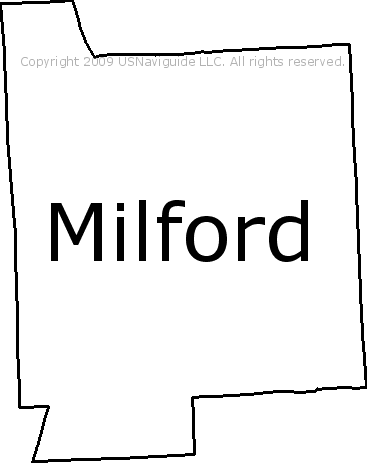Milford Michigan Zip Code Boundary Map Mi
