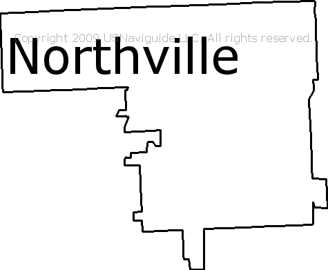 Northville Michigan Zip Code Boundary Map Mi