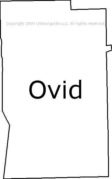 Ovid Michigan Map.Ovid Michigan Zip Code Boundary Map Mi