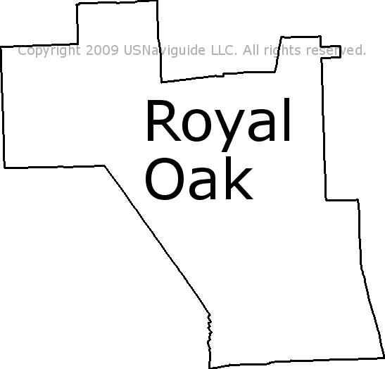 Royal Oak Michigan Zip Code Map.Royal Oak Michigan Zip Code Boundary Map Mi