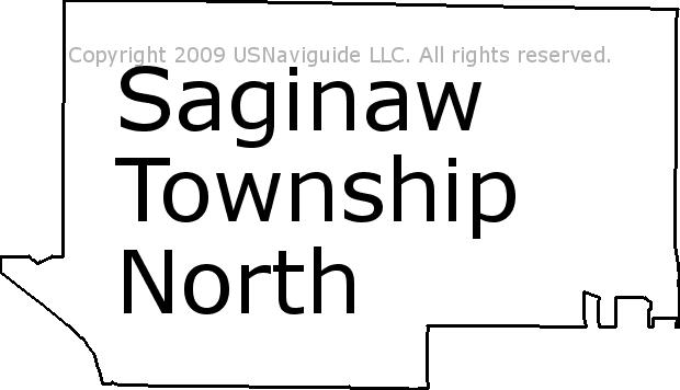 Saginaw Mi Zip Code Map.Saginaw Township North Michigan Zip Code Boundary Map Mi