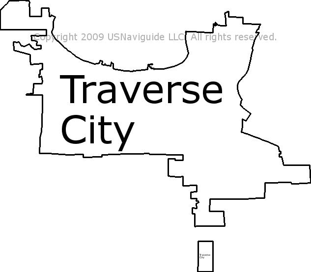 Traverse City Zip Code Map.Traverse City Michigan Zip Code Boundary Map Mi