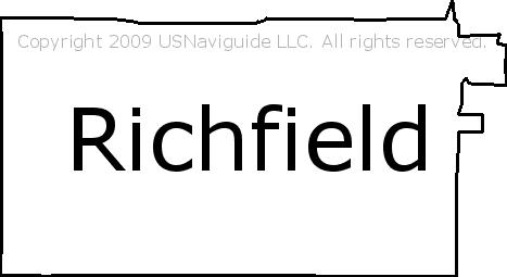 Richfield Minnesota Zip Code Boundary Map Mn
