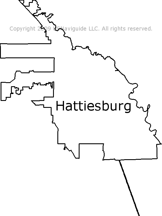 Hattiesburg Ms Zip Code Map.Hattiesburg Mississippi Zip Code Boundary Map Ms