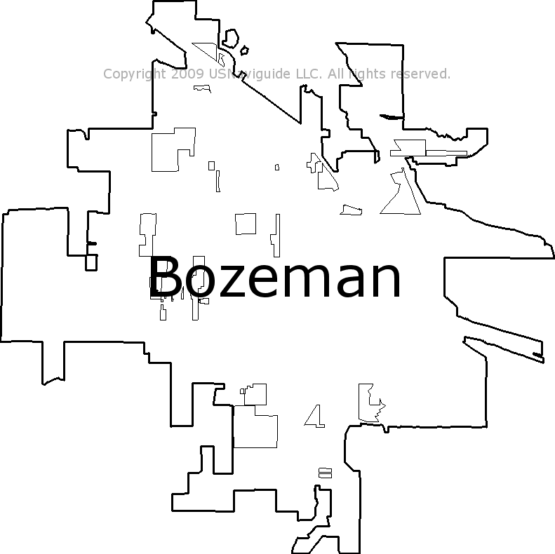 Bozeman Montana Zip Code Boundary Map Mt