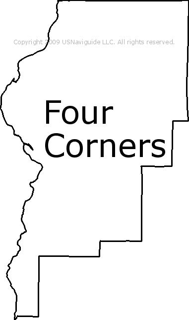 Four Corners Montana Zip Code Boundary Map Mt