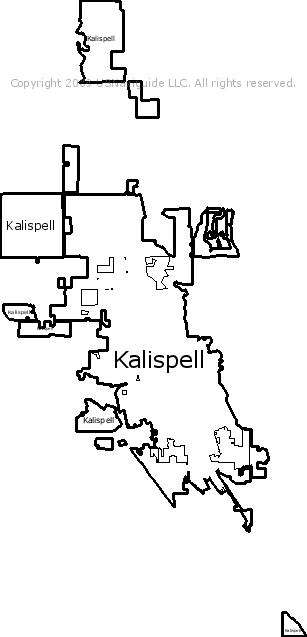 Kalispell Zip Code Map.Kalispell Montana Zip Code Boundary Map Mt