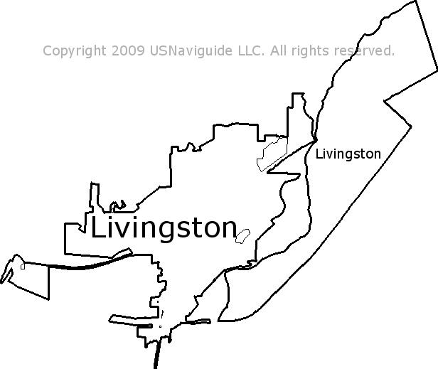 Livingston Montana Zip Code Boundary Map Mt