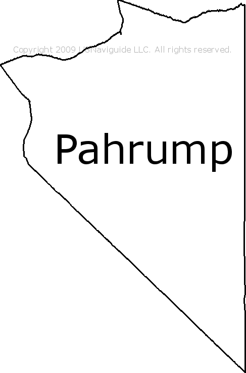 Pahrump, Nevada Zip Code Boundary Map (NV)